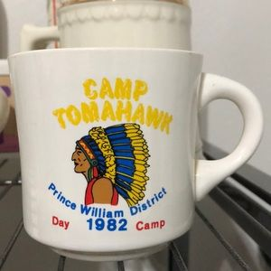 Vintage 1982 Camp Tomahawk Coffee Mug
